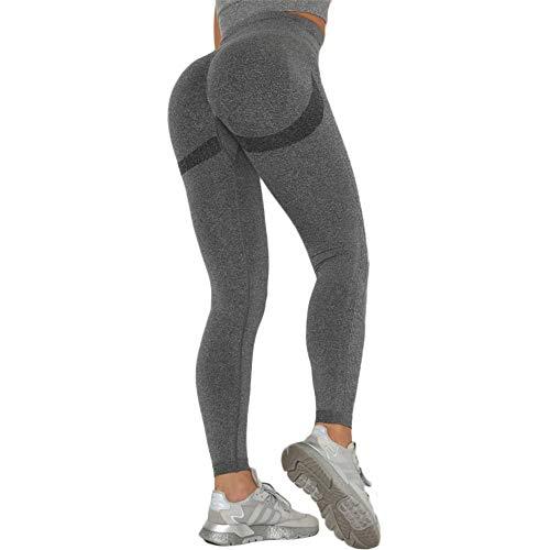 SotRong Leggings de gimnasio sin costuras para mujer, cintura alta, pantalones de yoga con control de barriga, mallas elásticas para correr
