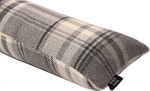 McAlister Textiles Heritage | Zugluftstopper mit Füllung im Tartan-Muster kariert 18cm x 90cm in Anthrazit Grau | Deko Windstopper für Fenster, Türen im Schottenkaro, Tweed