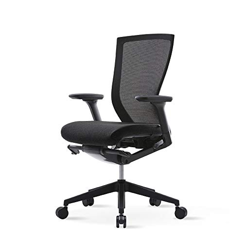 SIDIZ T50 AIR Full Mesh Ergonomic Office Chair (T529DA): Mesh Seat & Back for More Freshness, Advanced Mechanism for Customization, Adjustable 3D Arms & Seat Slide (Black Fabric Seat Cover Included)