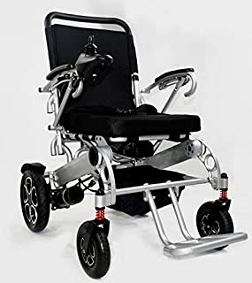 Safergo Foldable Electric Power Wheelchair, Heavy Duty for Indoors & Outdoors, Extra Wide Seat, Model W5521