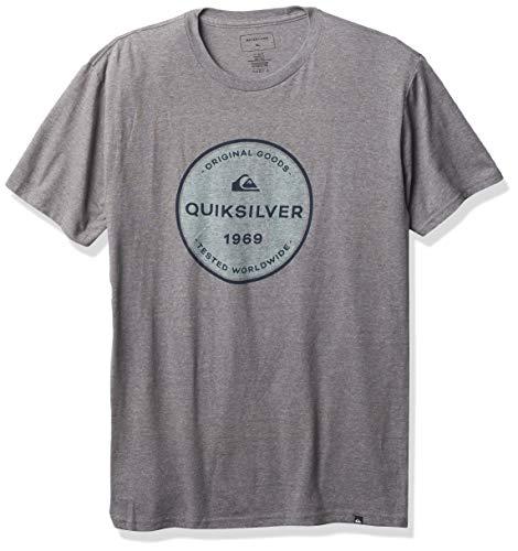 Quiksilver Men's GO Around TEE, Medium Grey Heather, S