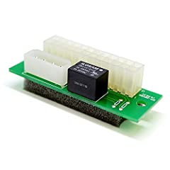 Safely and quickly expand your mining rig's power capacity! Relay controlled switching of your second, third, and even fourth PSU Mounting hole spacing: 63mm Dimensions: 25mm wide, 73mm long, 20mm high (including foam padding) Simply connect your add...
