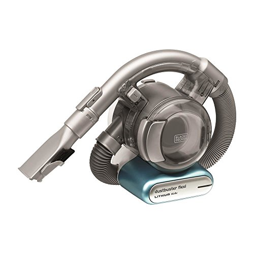 Black+Decker Lithium Dustbuster Flexi PD1420LP – 14,4V Akku Handstaubsauger mit flexiblem Saugschlauch – Beutel- und kabellos – 1 x Staubsauger inkl. Ladestation, Flusen- und Haaraufsatz