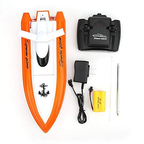 Modelo de Barco de Control Remoto KEENSO, lancha rápida, Juguete de lancha de Alta Velocidad, Juguete acuático de Verano al Aire Libre, para niños, 4CH RC Boat Dual Motor