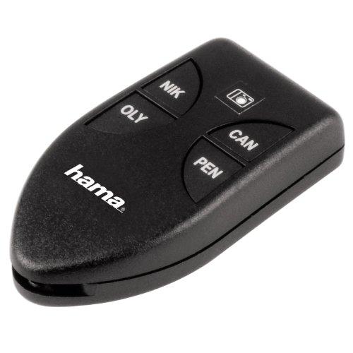 Hama Infrarot Fernauslöser (für Canon/Nikon/Olympus/Pentax DSLR- und Kompakt-Kameras mit IR-Empfänger, Selbstauslöser kabellos) schwarz
