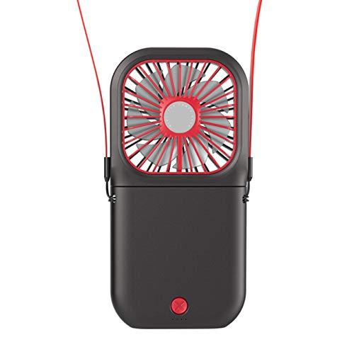 SENFEISM Cool portátil cuello plegable ventilador Neckband mesa ventiladores portátil mini aire acondicionado recargable para