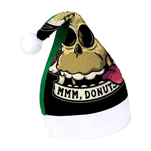 Insert Brain Here Homer Simpson Adult Sparkling Green elf Christmas hat Holiday Secret Santa Christmas Ornaments