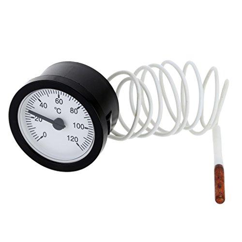 Sharplace 0-120° C Termometro Indicatore Temperatura Capillare Sensore di 1.5m per Acqua/Olio/Bevande