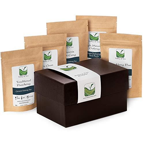 Geschenkbox Oolong Tee Für Teeliebhaber – Teespezialitäten Für Teekenner – Gourmet Sortiment Oolong Tees - 30g Teesampler Neben Pouchong 20g
