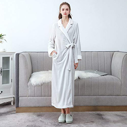 IHCIAIX Winter Nachthemd,Flanell Robe Plus Size 3XL Kimono Kleid Dessous Paare...