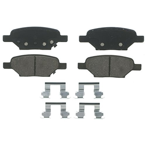 Wagner QuickStop ZD1033A Ceramic Disc Pad Set Includes Pad Installation Hardware, Rear