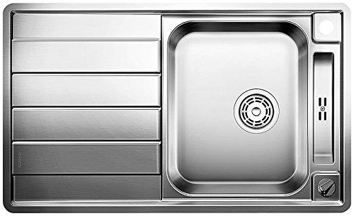 BLANCO Axis II 45 S-IF Küchenspüle, Edelstahl Seidenglanz, 516527