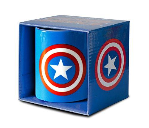 Logoshirt Marvel Comics - Captain America Logo Porzellan Tasse - Kaffeebecher - blau - Lizenziertes Originaldesign