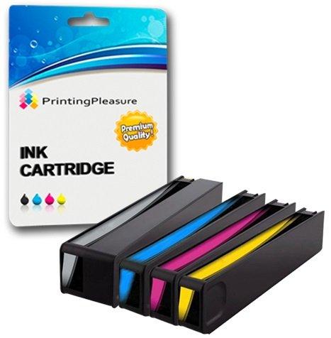 Printing Pleasure 4 Compatibles HP 913A Cartuchos de Tinta Reemplazo para HP PageWide 352dw 377dw Pro 452dw 452dwt 477dw 477dwt - Alta Capacidad (Negro: 3500 & Cian, Magenta, Amarillo :3000 Páginas)