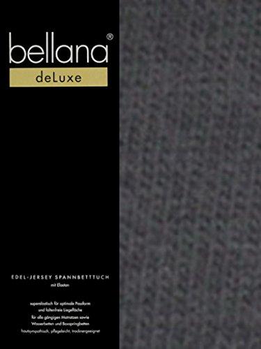 Bellana® Deluxe Spannbetttuch für Wasserbetten und Boxspringbetten, 180-200 x 200-220 cm, anthrazit