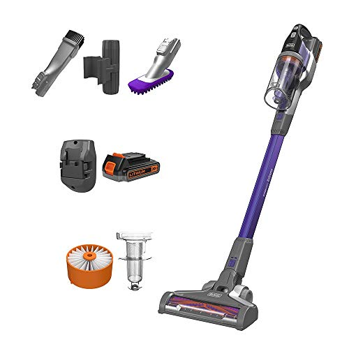 BLACK+DECKER Powerseries Extreme Cordless Stick Vacuum Cleaner for Pets, Purple (BSV2020P)