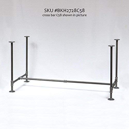 H28', Rusty Design, BKH2728C58 Pipe Legs KIT with Cross Bar for Dining Table, H...