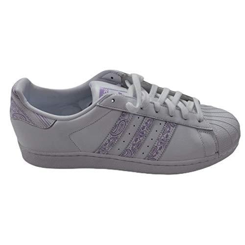 adidas Originals Superstar II Schuh mit Low-Top für Erwachsene, Unisex, Weiß - Wolke Bianco Viola Glow Cloud Bianco - Größe: 44 EU