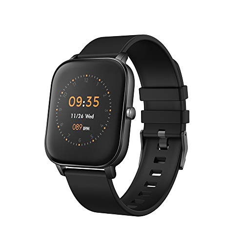 """moreFit Smart Watch, 1.4"""" Fitness Tracker with Sport Model Heart Rate Calorie Sleep Monitor Music Control IP68 Resistant for Women and Men (Black)"""