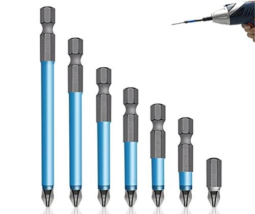 7pcs Broca magnética antideslizante - Juego de brocas magnéticas fuertes,Puntas de destornillador...