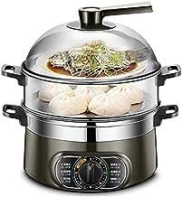 DYB 10L Grande capacité 1500w Multi-usages Pot cuiseur Vapeur électrique Multifonction en Acier Inoxydable