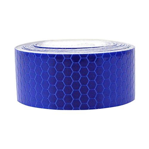 Reflektierende Folie von Muchkey®, Warnfolie, 50 mm x 1 m, blau, 1 Stück