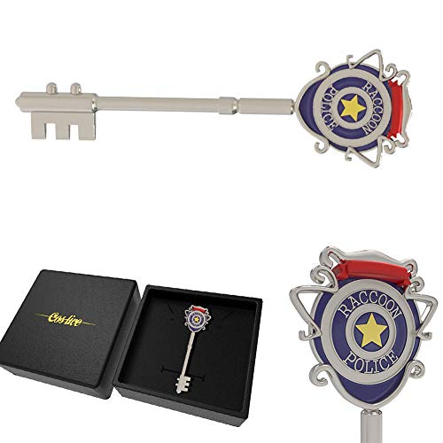 Tiff-K Resident Evil 3 Remake RPD Key Raccoon Police S.T.A.R.S Cosplay Halloween Biohazard Key Collection