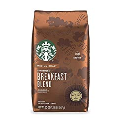 in budget affordable Starbucks Medium Roast Ground Coffee – Breakfast Mix – 100% Arabica – 1 Pack (20 oz)