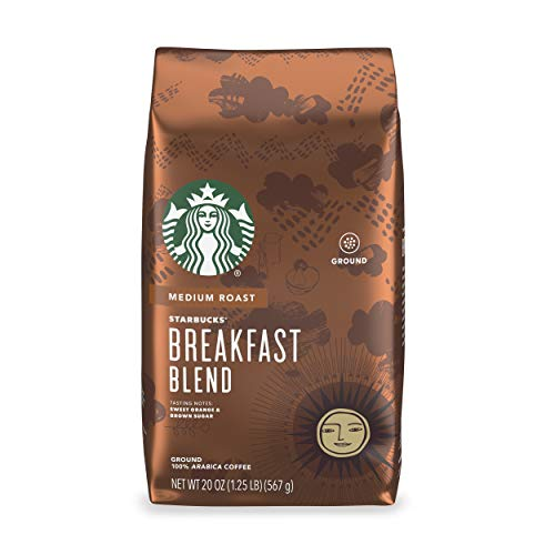 Starbucks Medium Roast Ground Coffee — Breakfast Blend — 100% Arabica — 1 bag (20 oz.)