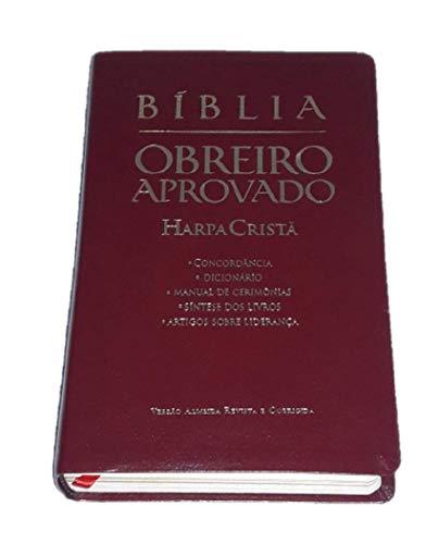 Bíblia Obreiro Aprovado Media Harpa Luxo Vinho