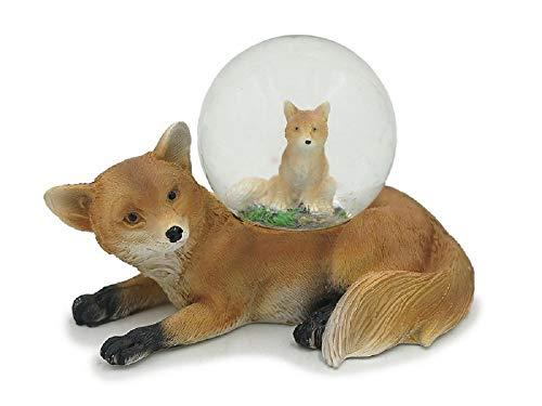 Euro Souvenirs Glitzerkugel Fuchs Schneekugel Tier Tiere Schneekugeln Füchse