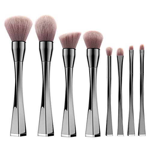 Luxspire Perfekt Pinselset, 8 Stück Make up Set Schminkpinsel mit Puderpinsel Brauenpinsel...
