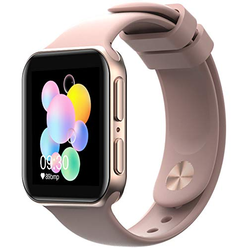 AllCall GTA Smartwatch,Armbanduhr mit Blutdruck Messgeräte,Pulsoximeter,Pulsuhren Wasserdicht IP68 Fitness Tracker Schrittzähler,1.4 Zoll Touchscreen Damen Herren Smart Watch(für Android iOS) Roségold