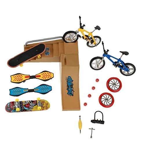 Skate dedo del consejo establecen Juguetes Skate Park Mini Kit de bicicletas Vespa Roller Establecer ubicación para los niños Manos Formación del paquete 1 material sostenible