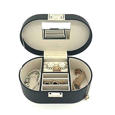 Vlando Small Faux Leather Travel Jewelry Box