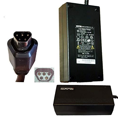 Powatechnic Cargador inteligente de batería de iones de litio de 36 V 42 V para Joycube Phylion A2B, Fox, Lombardo, SSLC084V42XH JCLC084V42MH SSLC084V42MH AGLC084V42MH AGLC084V42S
