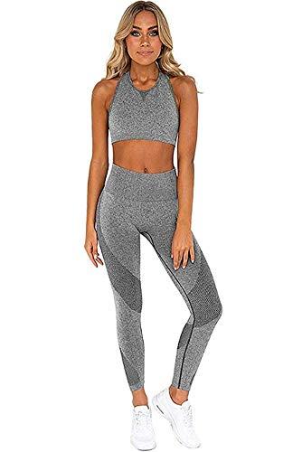 Ducomi - Fitness-Trainingsanzüge für Damen in Grau, Größe M