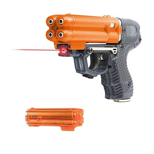 PIEXON Pfefferspraypistole JPX6 mit Laser und 4 Schuss Speedloader + Ersatzmagazin + BKA Zulassung