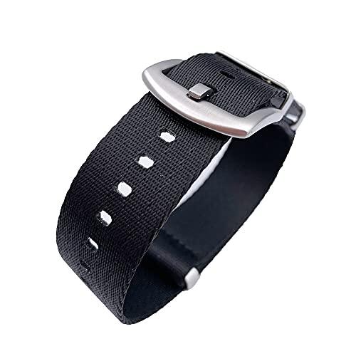 OWZSAN Relojes para mujer 18mm 20mm 22mm 24mm Nylon reloj banda universal correa reloj hombres mujeres deporte lona resistente pulsera accesorios cuero metal acero inoxidable correas