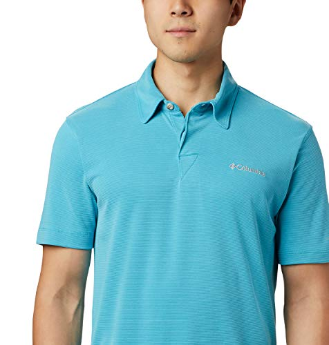 Columbia Herren Sun Ridge Poloshirt, Clear Water, XL