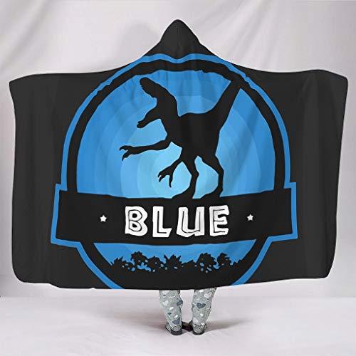 Vrnceit Velociraptor Blue Squad - Manta para Oficina con impresión 3D en frío, Estilo Familiar, Paño de Goma, Blanco, 150 x 200cm