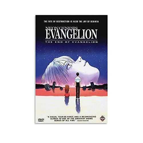 Poster néon Genesis Evangelion The End of Evangelion - Impression sur toile - Décoration murale moderne pour chambre à coucher - 30 x 45 cm