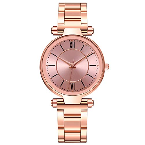 JZDH Relojes para Mujer Mujeres Watch Rose Gold Women's Mesh Bey Relojes de muñeca de Moda Ultrafina Relojes Decorativos Casuales para Niñas Damas (Color : Multicolor)