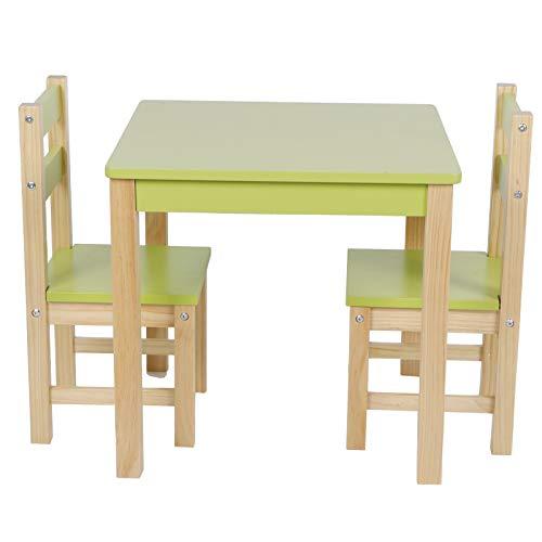 Socobeta Sillas de Mesa para niños, Muebles para el hogar, Juego de sillas de Mesa, MDF + Pino, multifunción para Muebles de Sala de Estudio en el hogar