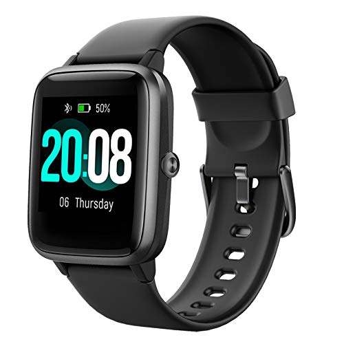 LIFEBEE Smart Watch, Fitness Tracker HR Touch Screen Activity Tracker, IP68 Wasserdicht Fitness Uhr mit Herzfrequenz Schlafmonitor Schrittzähler Kalorienzähler Stoppuhr Laufuhr für Herren Damen
