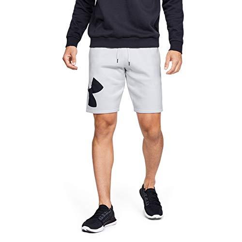 Under Armour Rival Fleece Joggers, jogging Homme, Noir (Pitch Gray Light Heather / Onyx White), XL