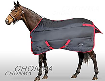 6'3'' 420D 250 Fill No Neck Medium Weight Black/Red Pony Horse Stable Rug