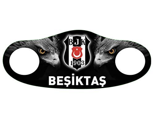 Gök-Türk Maske Mundschutz Anti-Staub Gesichtsmaske (Besiktas Galatasaray Fenerbahce Trabzonspor Atatürk Zülfikar Hz.Ali Clown Schädel Camouflage Ay Yildiz Bozkurt Ertugrul Türk) (Besiktas)