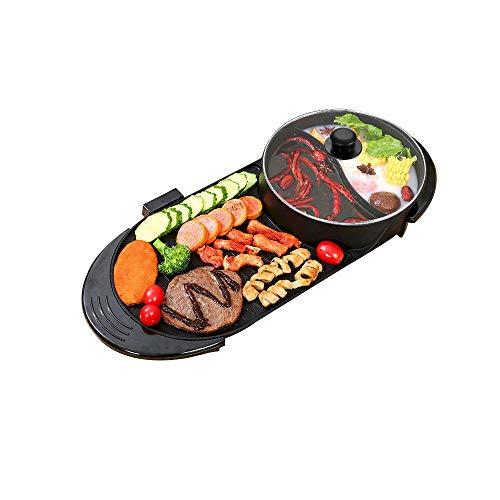 Pinzheng coreano barbacoa sin humo barbacoa interior olla caliente multifunción eléctrica Maifan...