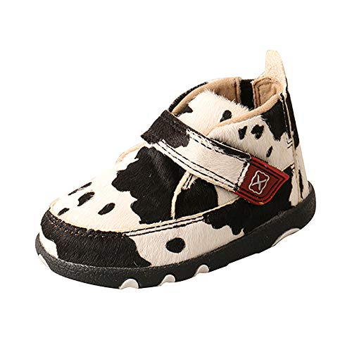 Twisted X Infant Chukka Driving Moc, White/Black, 2(M)